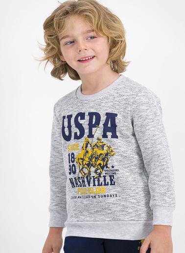 U.S. Polo Assn. Lisanslı Lacivert Erkek Çocuk Eşofman Takımı Beyaz